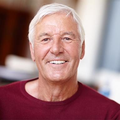 Old Men Smiling Having Dentures