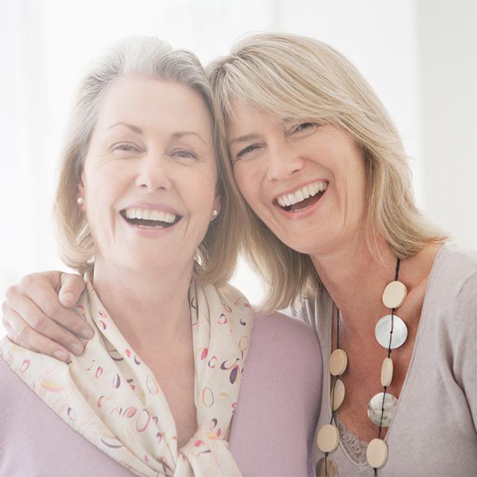 Ladies Wearing Dentures and Smiling